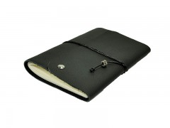 Reisetagebuch - Notizbuch - A6 - Travel Black Silver