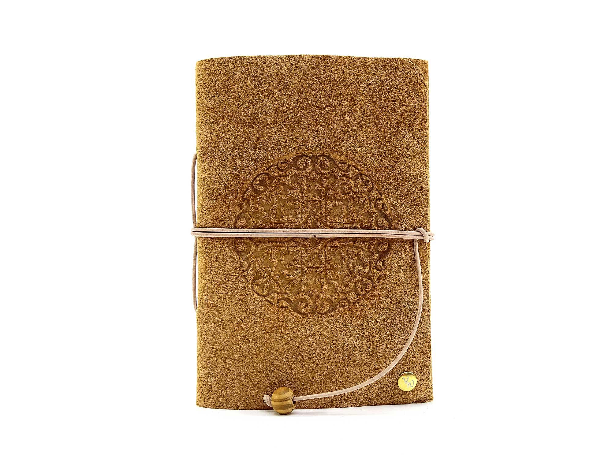 Leder Buch Travel Memory Caramel Tribal – A6 – Vickys World